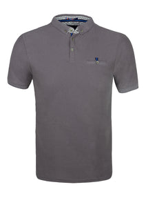 POLO SHIRT - JERSEY - WITH POCKET - GREY