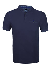 POLO SHIRT - JERSEY - WITH POCKET - NAVY