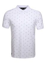 POLO TOP WITH PINEAPPLE PRINT - WHITE