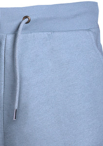 SHORTS - FLEECE - WITH   DRAW STRING - BABY BLUE