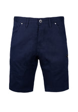 SLIM SHORTS WITH PATCH PATCH POCKETS; NAVY