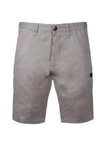 SLIM SHORTS WITH PATCH PATCH POCKETS; STONE