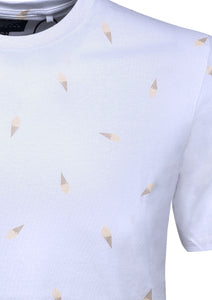 CREW NECK T SHIRT WITH ICE CREAM PRINT