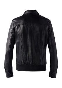 DREAMWEAVER LEATHER JACKET BLACK