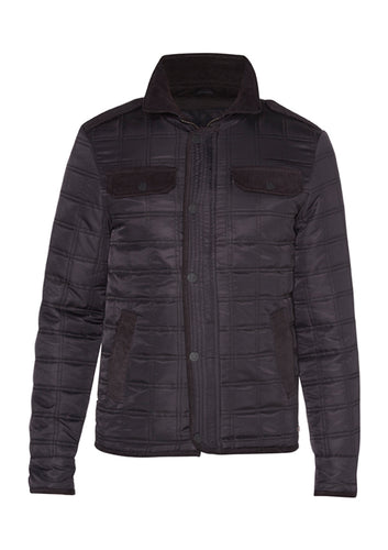 DREAMWEAVER NYLON QUILTED RIDING JACKET NAVY