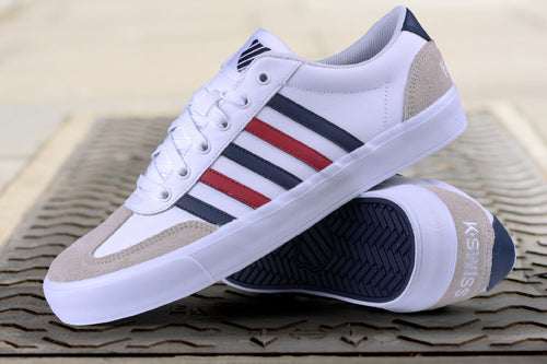 K-SWISS ADDISON VULC LTR WHITE COPORATE