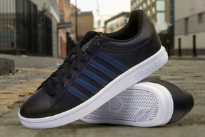 K-SWISS COURT WINSTON BLACK/OMBRE BLUE
