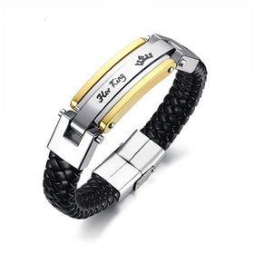 Couples Braided Leather Bracelet