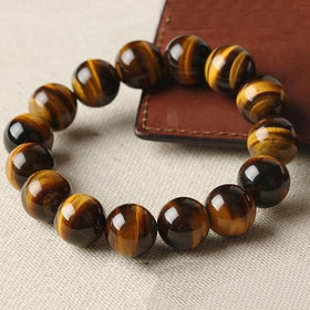 8 Natural Tiger Eye Stone Bracelet