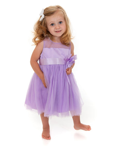 Lilac Flower Ribbon Dress