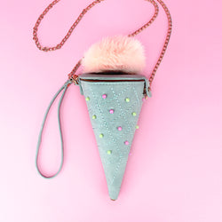 Ice Cream Cone Crossbody Bag