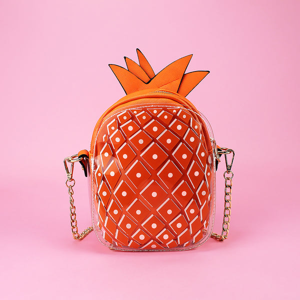 Pineapple crossbody purse / clutch
