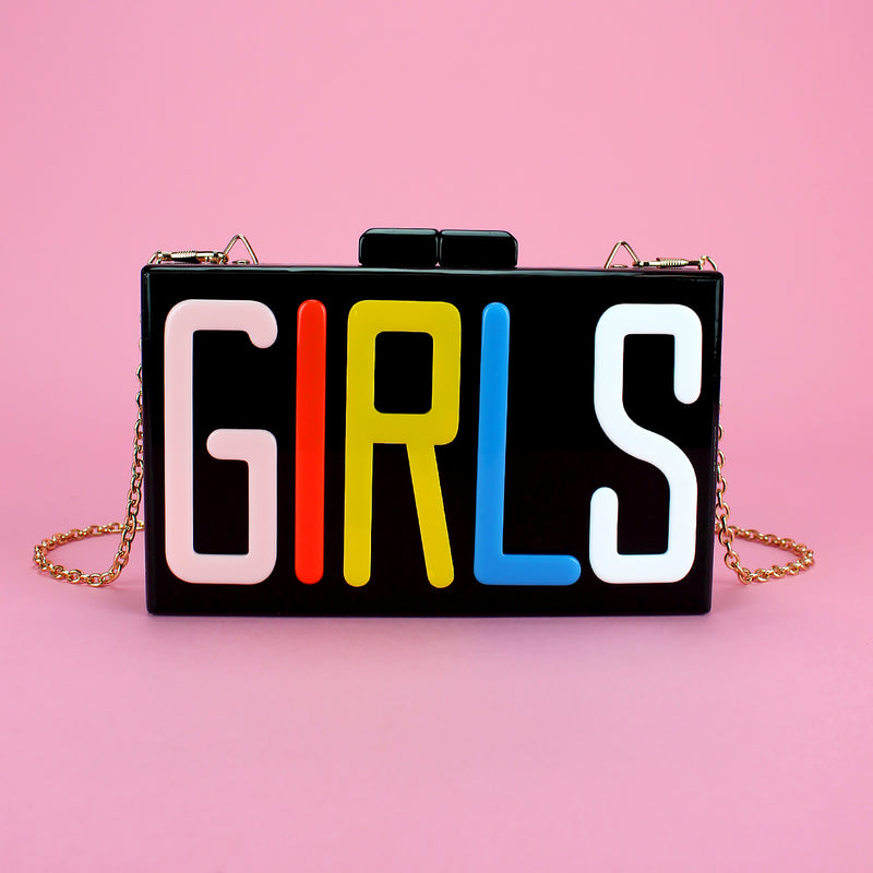 GIRLS Acrylic clutch