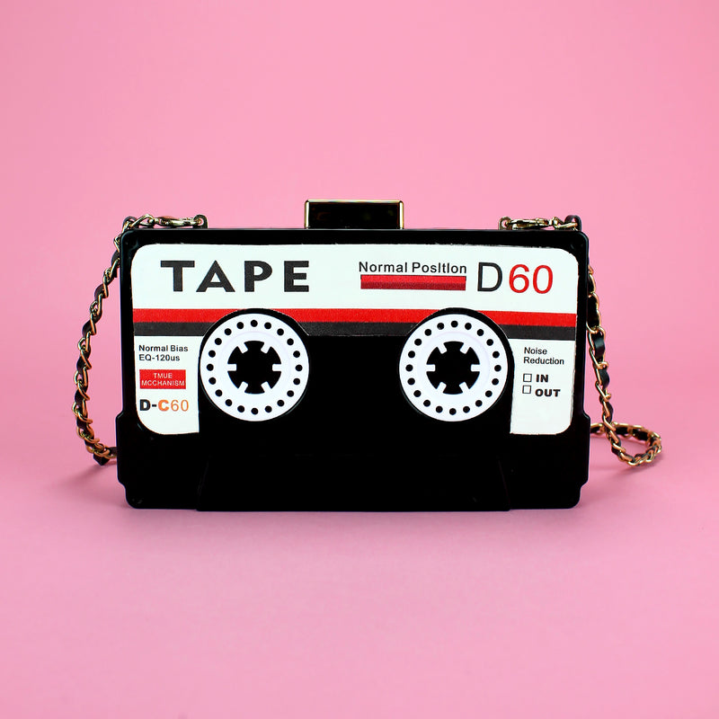 Tape shaped acrylic clutch