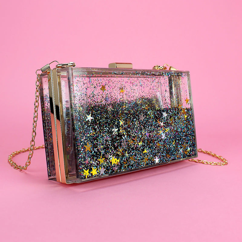 Clear Clutch with Sparkles