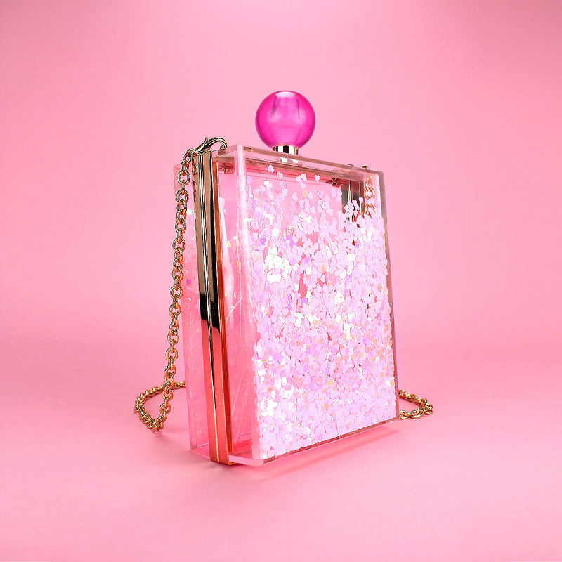 Glossy Pops Clutch in Pink