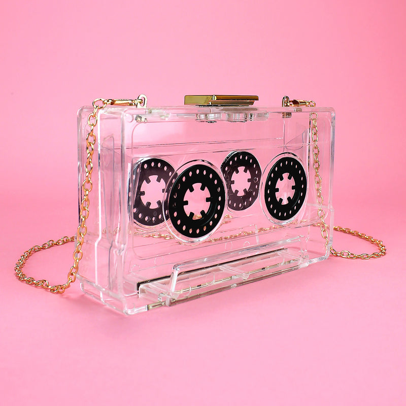 Clear Acrylic Tape Clutch