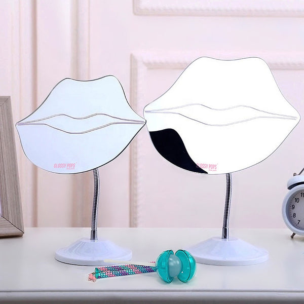 LIP SHAPED FRAMELESS TABLE MIRROR
