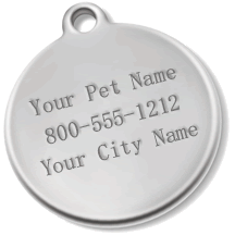 Dog Customizable ID Tags