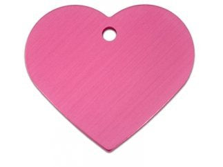 Customizable Pink Heart Dog Tag (Large)