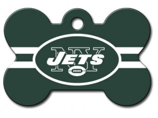 Customizable NY Giants Bone Dog Tag (Large)