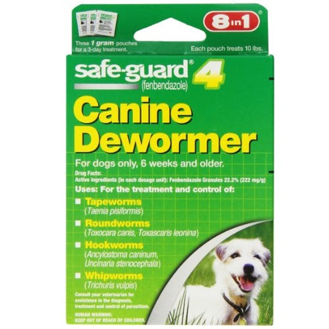 8in1 Safe-Guard Canine Dewormer, 3-Day Treatment