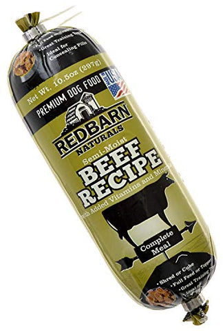 Redbarn Natural Beef Recipe Rolled Food for Dogs (10.5 Oz.)