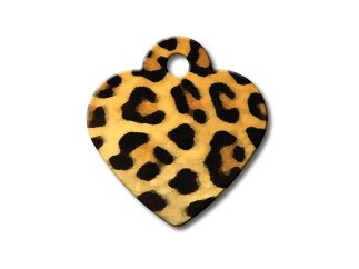 Customizable Leopard Print Painted Heart (Small)