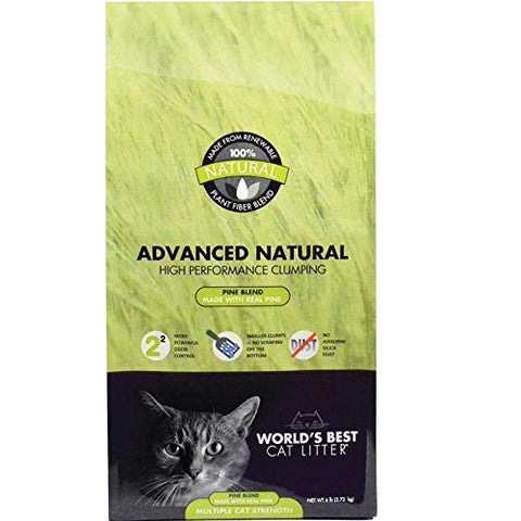 World's Best Cat Litter Advanced Naturals Scented Pine Blend (6-Lb.)