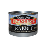 EVANGER'S Grain Free Rabbit for Dogs and Cats (6-Ounce, 24 Pack)