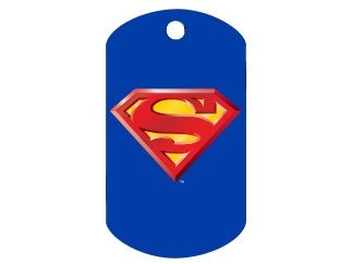 Customizable Superman Military Dog Tag (Large)