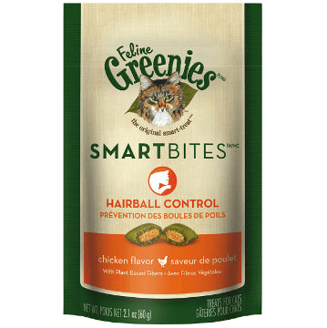 Greenies Smartbites Hairball Control Treats Chicken Flavor (2.1-Oz.)