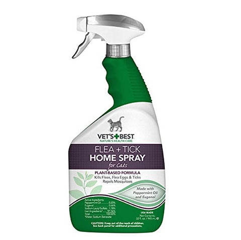 Vet's Best Flea and Tick Home Spray for Cats (32-Oz.)