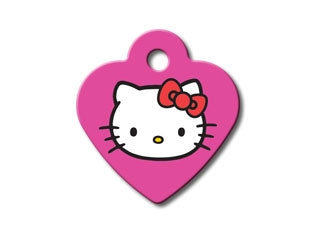 Customizable Hello Kitty-Pink Heart Dog Tag (Small)