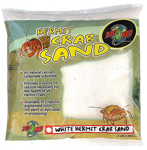 Zoo Med Hermit Crab Sand, White ( 2-Lbs.)