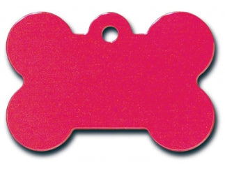 Customizable Red Anodized Bone Dog Tag (Large)