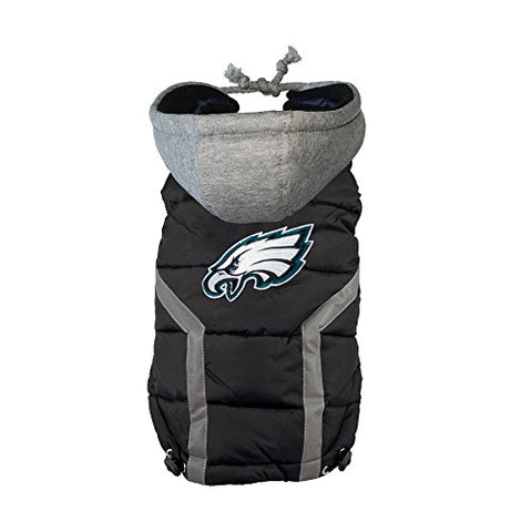 NFL Dog Puffer Vest - Eagles (S)