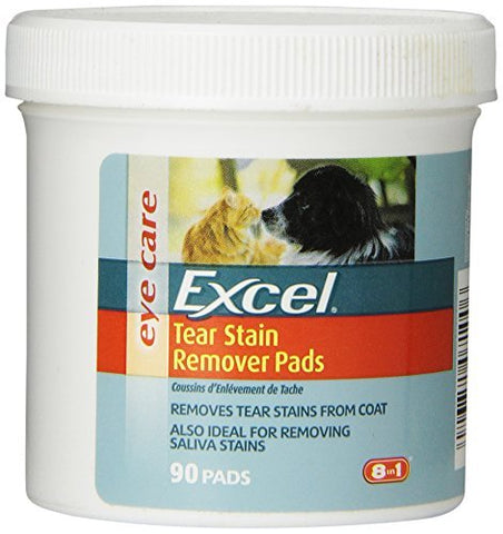 Excel 8-in-1 Tear Stain Remover Pads (90-Count)