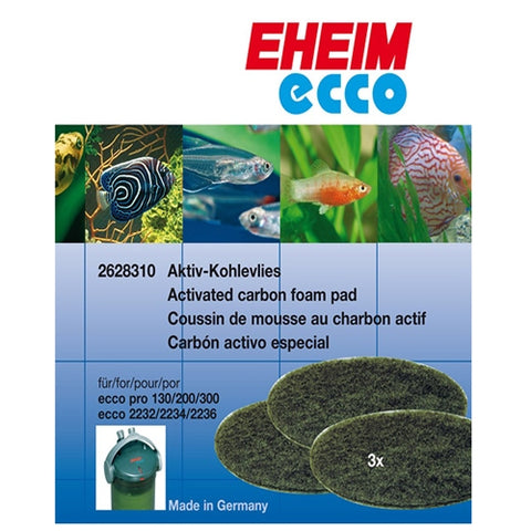 Eheim Carbon Filter Pad for ECCO Canister Filters (3-Pack)