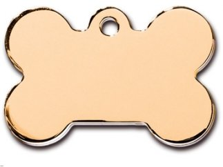 Customizable Gold Bone Dog Tag (Large)