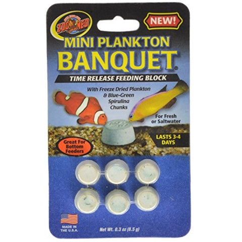 Zoo Med Plankton Banquet Block Feeder Mini (12 Count)