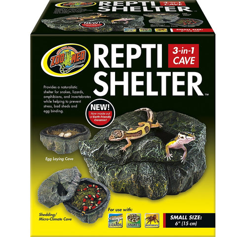 Zoo Med Reptile Shelter 3 in 1 Cave (Small)