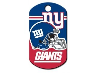 Customizable New York Giants Military Dog Tag (Large)