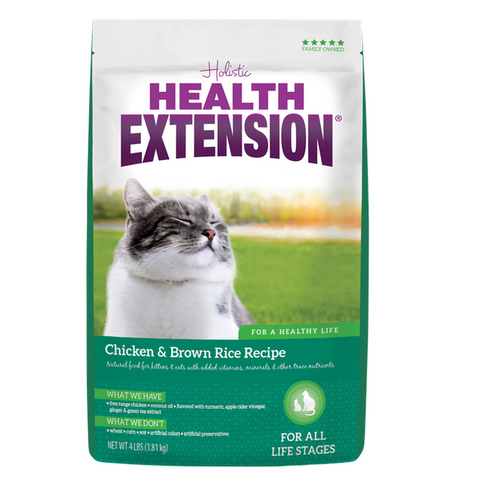 Health Extension Cat Food, Chicken & Brown Rice Recipe (4-Lb.)