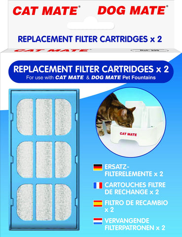 Cat Mate Replacement Filter Cartridges 2-Count