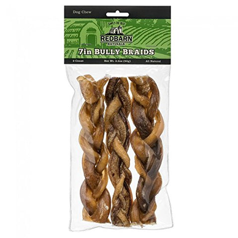 Redbarn Braided Bully Sticks- 7""