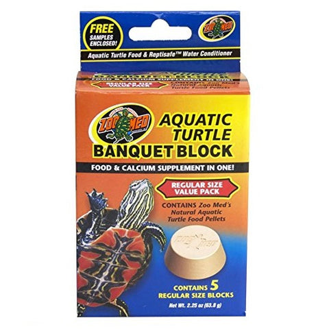 Zoo Med Block Value Pack for Aquatic Turtle, (2.25-Oz. 5 Count)