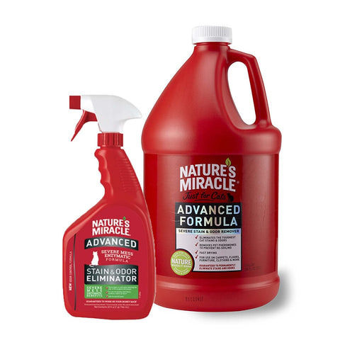 Nature's Miracle Just for Cats Advanced Stain And Odor Formula (32-Oz/1 Gallon)