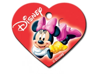 Customizable Minnie Mouse Heart Dog Tag (Large)