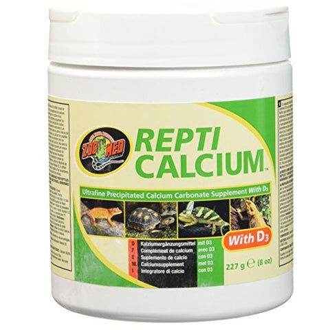 Zoo Med Reptile Calcium with Vitamin D3 (8-Oz.)